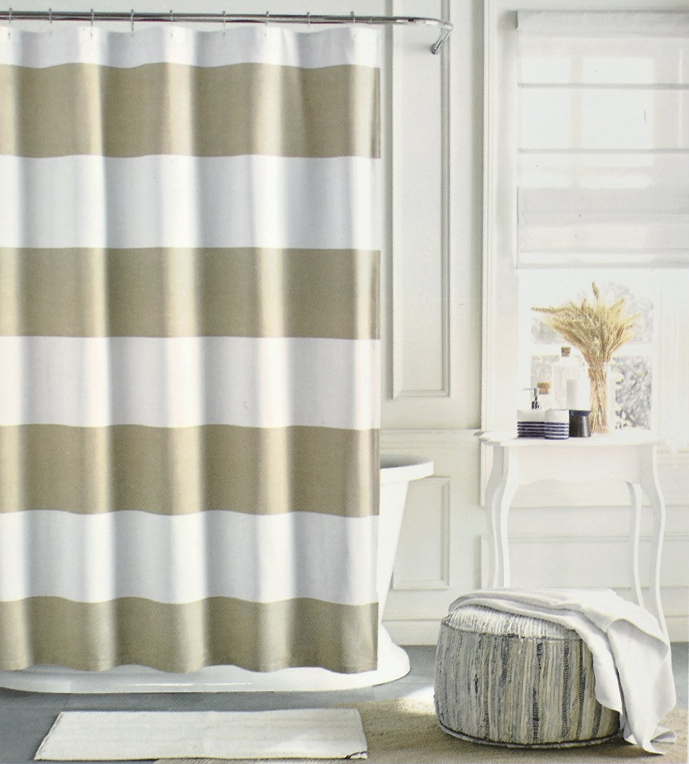 Buy Tommy Hilfiger Cotton Shower Curtain Wide Stripes Fabric