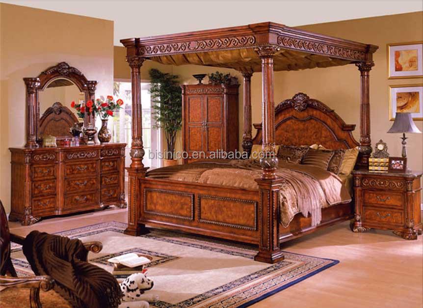 bisini luxe meubles meubles de chambre a coucher antiques roi taille double conception de cadre