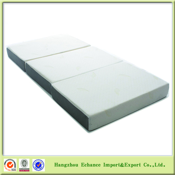 6 Inch Bamboo Tri Fold Memory Foam Mattress With Rolled Up Vacuum Ng