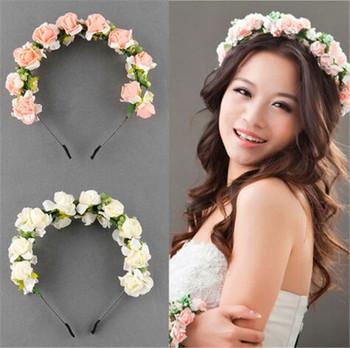 new design india wedding hair accessory bridal flower crown headband hair band bridal