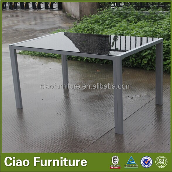 garden table patio black glass top aluminum dining table buy aluminum dining table garden table glass top center table product on alibaba com
