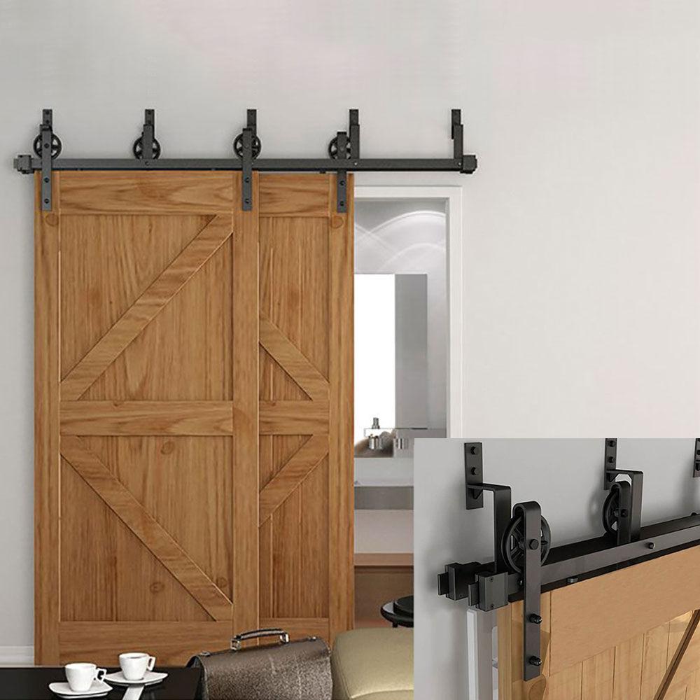 vintage coulissantes grange double porte materiel piste kit placard patio rail buy quincaillerie de porte de grange coulissante quincaillerie de