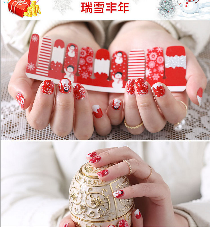 2017 Chinese New Year Style Christmas High Quality Custom Nail Art Sticker Decoration
