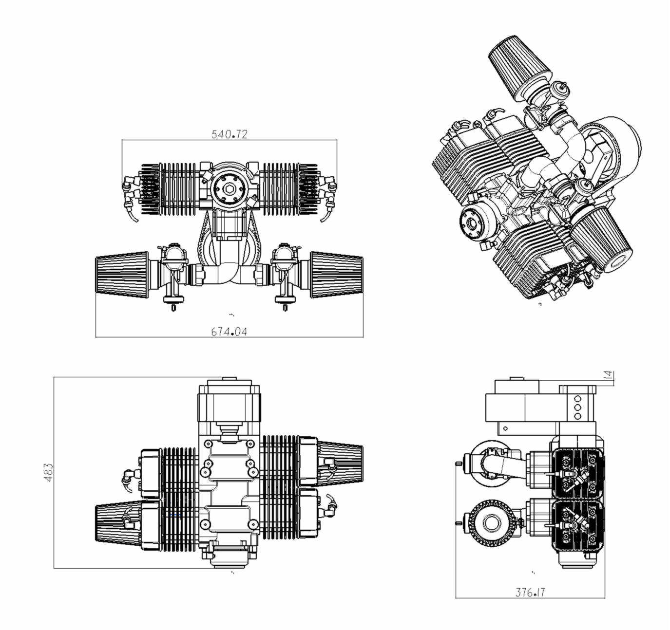 Ultralight Aircraft Engine