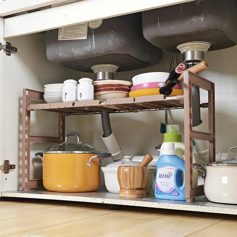 2 tier expandable under multifunctional bathroom kitchen cabinet storage organization rack under sink organizer buy under sink organizer kitchen
