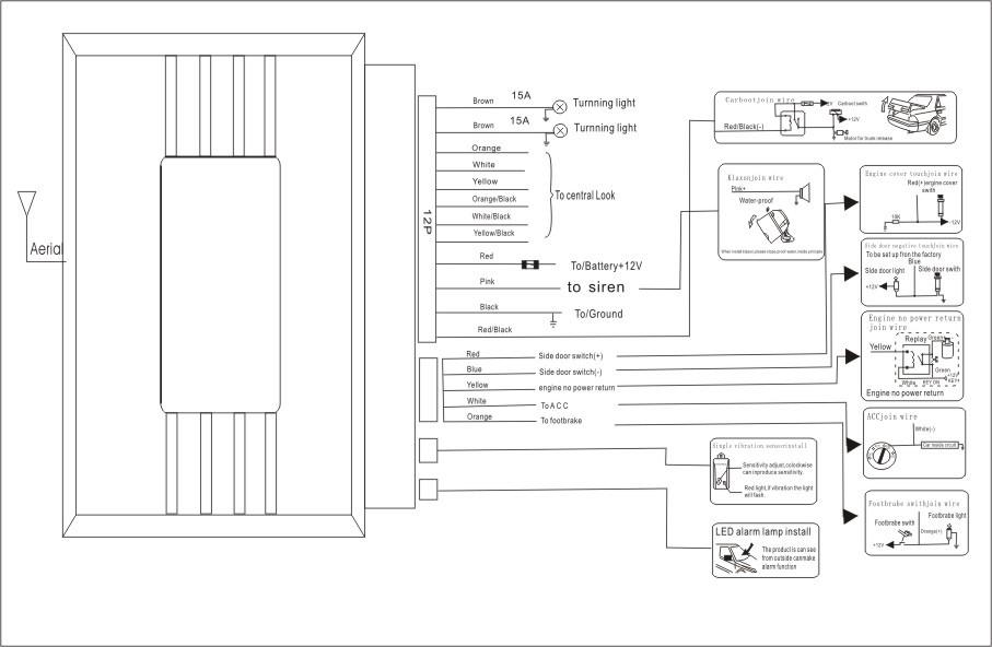 Directed Alarm Wiring Diagram : Avital directed wiring diagrams diagram