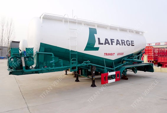 Titan aeration pad powder tanker trailer