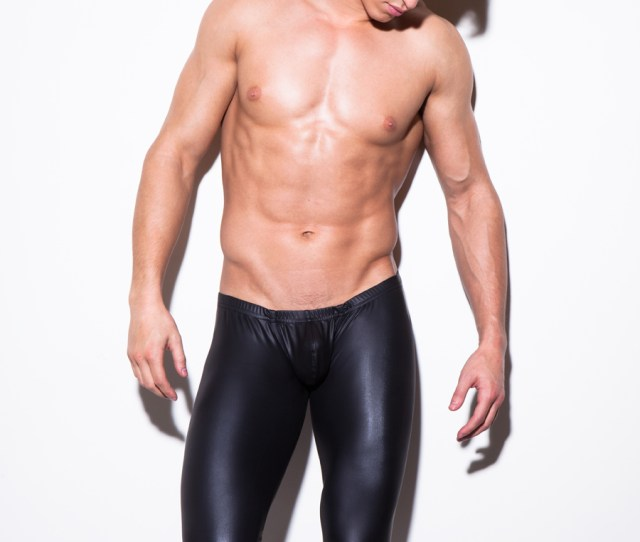 Buy Mens Long Pants Tight Fashion Hot Black Human Made Leather Sexy Nn Boxer Full Length Panties Trousers Brand Straight Costume In Cheap Price On