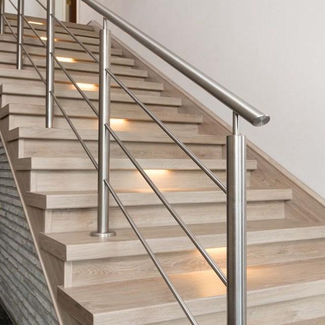 Customized Stainless Steel Interior Metal Railing Kits Stair   Stainless Steel Stair Railing   Price   Wall   Outdoor   Vertical   Golden
