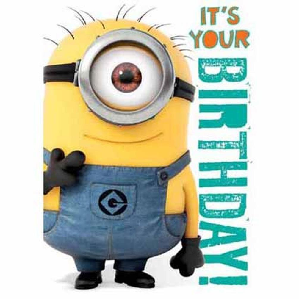 Buy Official Despicable Me Minions Birthday Card With Recorded Minion Laughing In Cheap Price On Alibaba Com