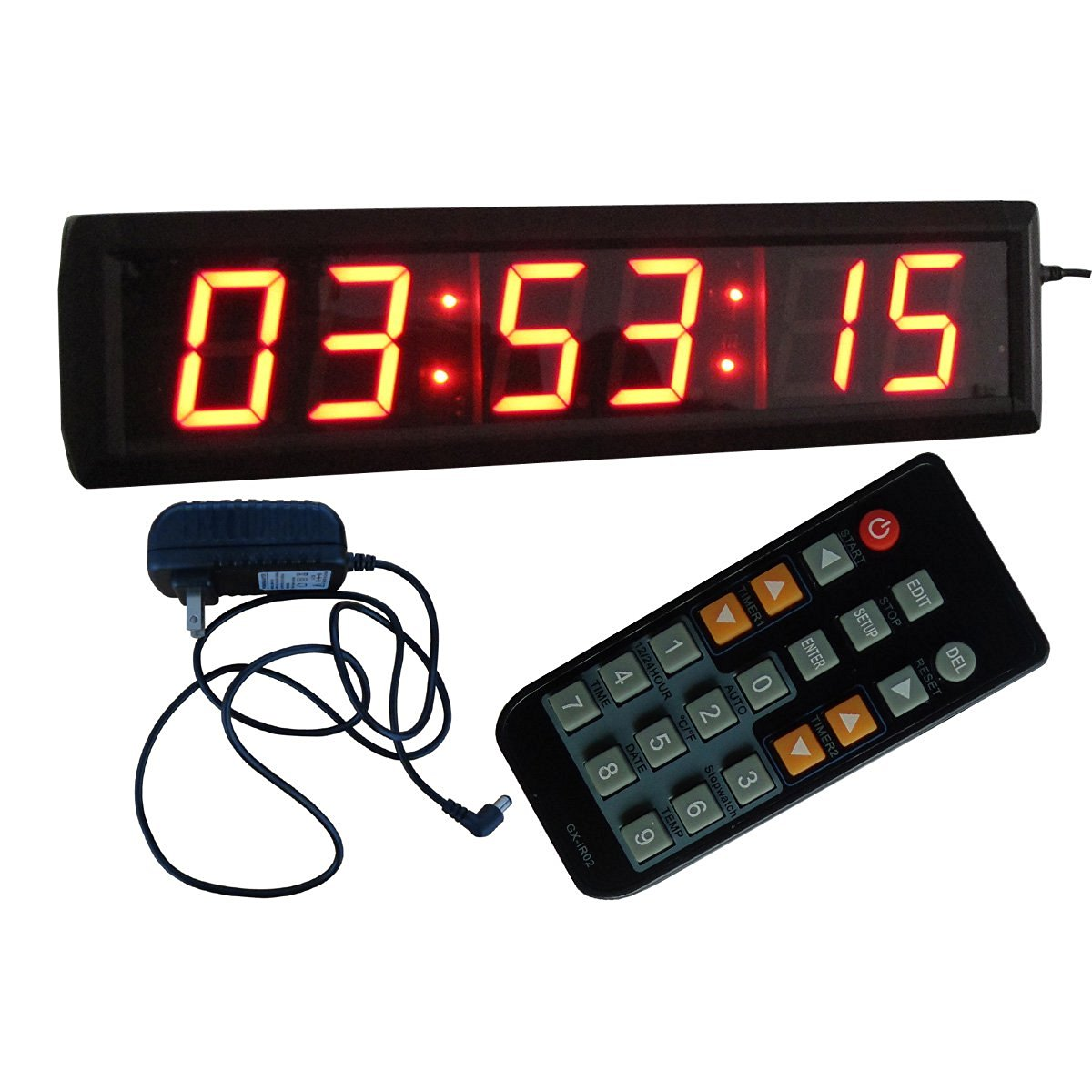 Buy Led Wall Clock 3 High Digits Red Color 12 24 Hour