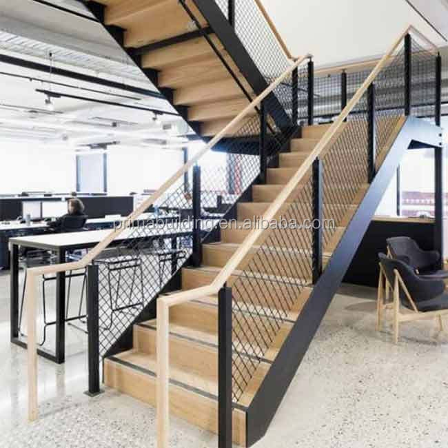 Commercial Store Staircase Design Open Riser Stair Diy Timber Step | Tread Riser Staircase Design | Effective | Contemporary | Cad Detail | Folded Plate | Angled