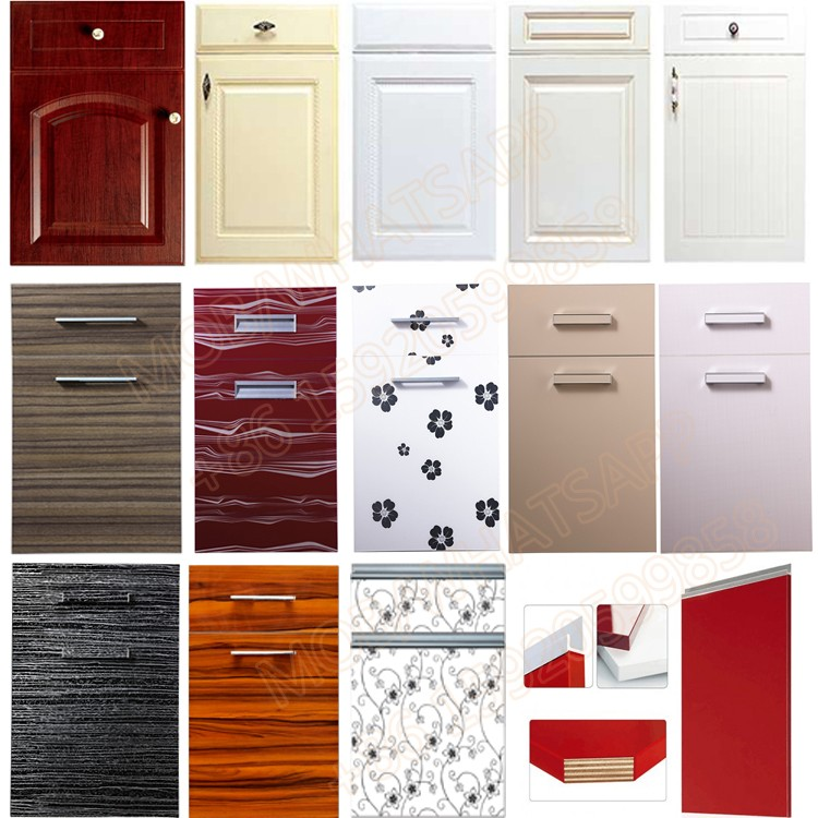 Factory Melamine Modular Wooden Pvc Laminate Kitchen