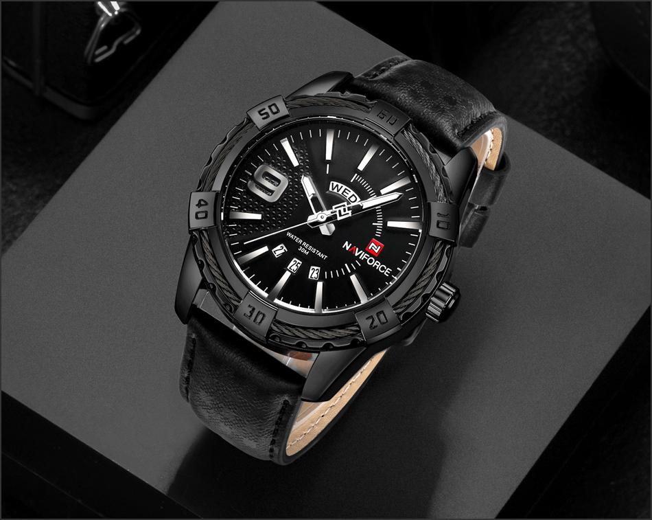 HTB1ZsSCggnH8KJjSspcq6z3QFXaK NAVIFORCE Top Luxury Brand Men Quartz Watch Army Military Sport Business Watches Week Analog Display Male Clock Waterproof Hour