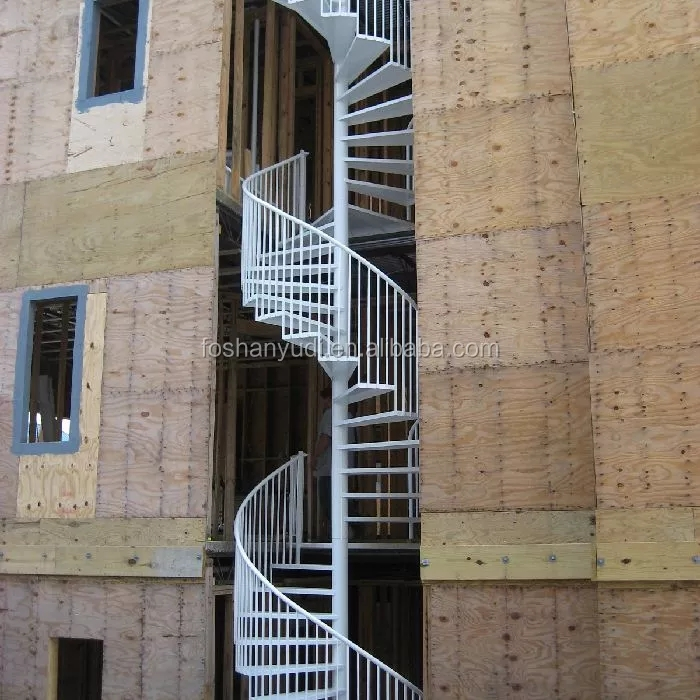 Exterior Metal Design Staircase Spiral Stairs House Used For   Outside Stair Design For Small House   2 Story   Cement Stair   House Chennai   Residential   Stair Room