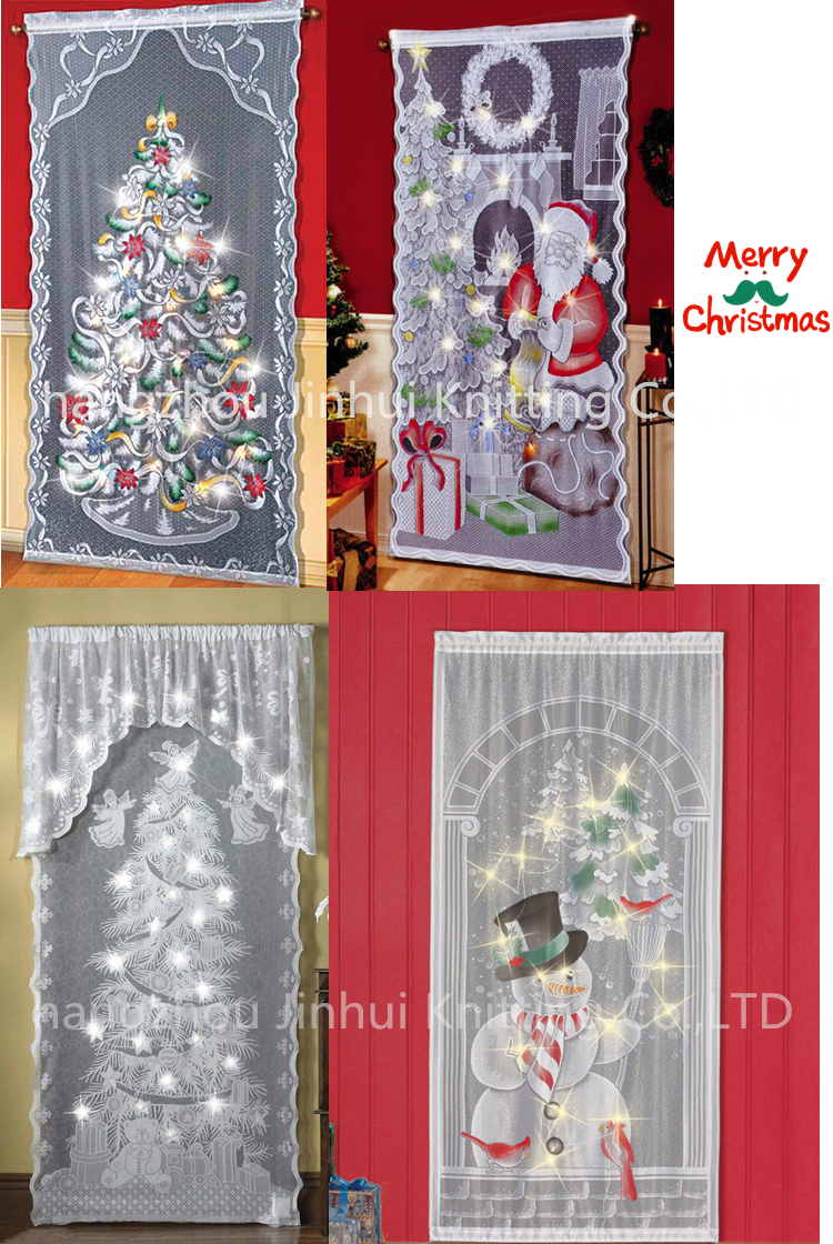 new led lighted holiday angels christmas tree lace window curtains panel 40x84 inch buy led lighted christmas curtains holiday led curtain window