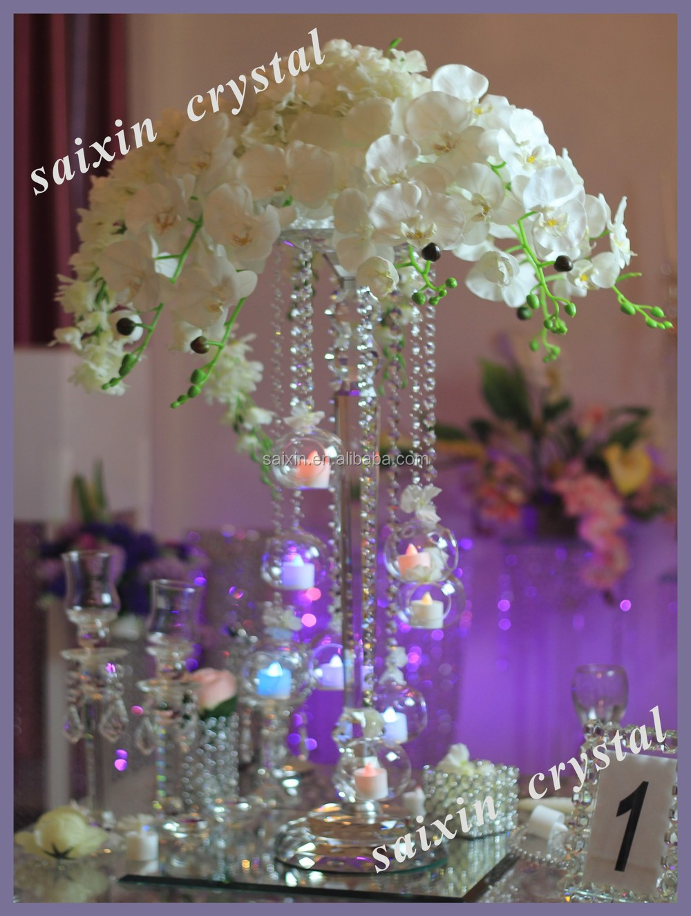 New Round Crystal Bead Vases For Hotels Decor Amp Wedding
