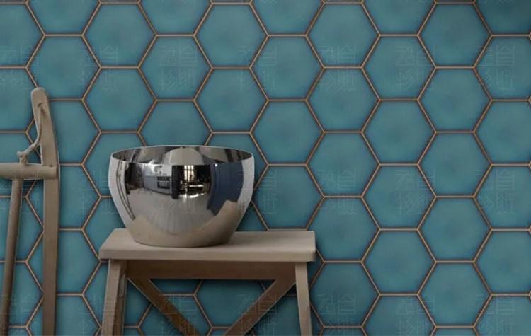 carrelage mural hexagonal en plastique naturel et moderne motif ecorce n stick carrelage de salle de bain decorative buy carreau a motif