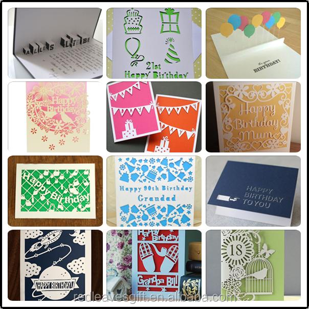 Promosi Desain Lucu Nama Pesan Printing Kustom Kartu Ulang Tahun