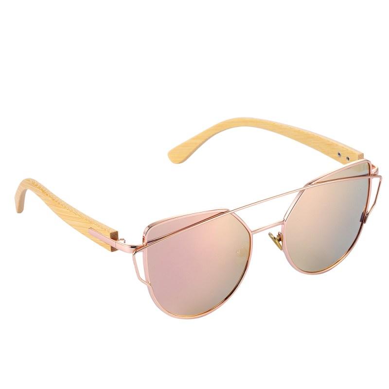 HTB1aYbzgnnI8KJjy0Ffq6AdoVXai BARCUR Bamboo Cat Eye Sunglasses Polarized Metal Frame Wood Glasses Lady Luxury Fashion Sun Shades With Box Free