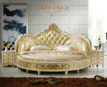 European Design Antique Bedroom Round Bed King Size
