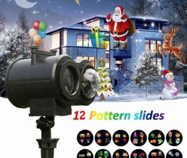 Halloween Christmas New Year Led Projector Light Remote Remote Control  Pcs Dynamic Slides Projection Lights