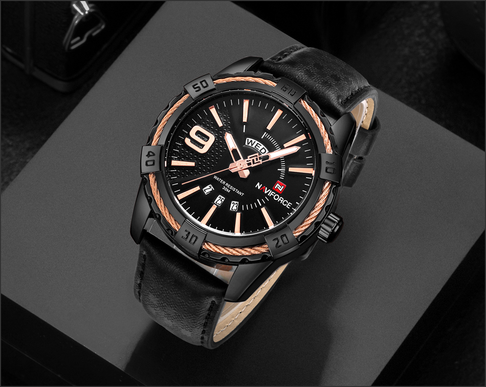 HTB1b56ngnnI8KJjSszbq6z4KFXaJ NAVIFORCE Top Luxury Brand Men Quartz Watch Army Military Sport Business Watches Week Analog Display Male Clock Waterproof Hour
