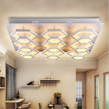 New Style Hexagon Acrylic Ceiling Lights Fixtures China For Indoor     New style hexagon acrylic ceiling lights fixtures China for indoor  decoration
