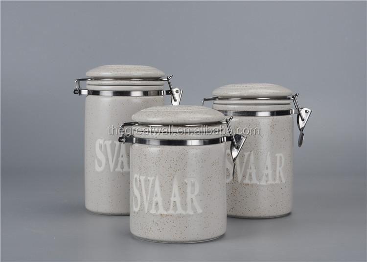 cylindrique ensemble de bidon creme europeenne sucre the cafe farine pot de cuisine