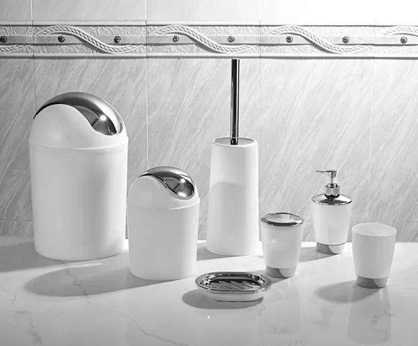 kalen ensemble d accessoires de salle de bain design italien avec 7 pieces buy ensembles d accessoires de salle de bain rouge ensemble