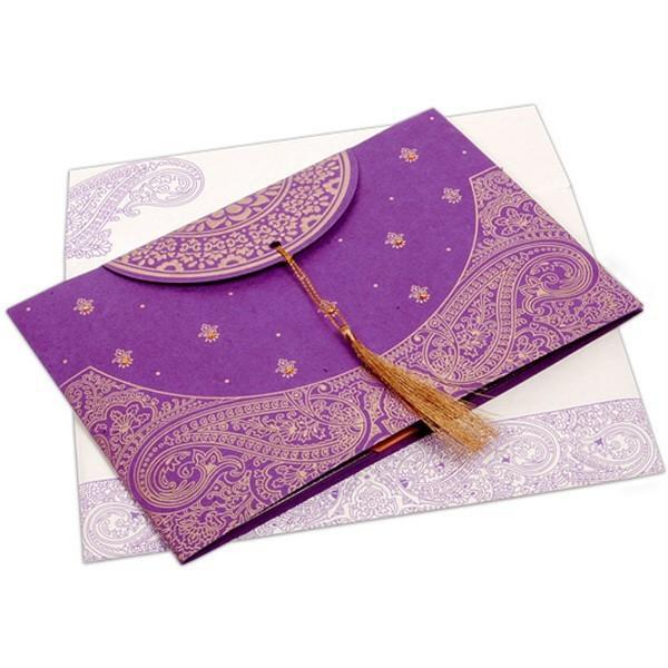 Erfly Ribbon Design Indian Wedding Cards Invitation
