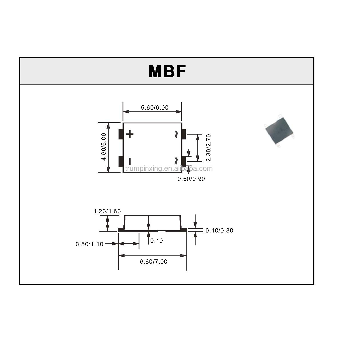 Ic Bridge Rectifier Diode Mb10f With Competitive Price