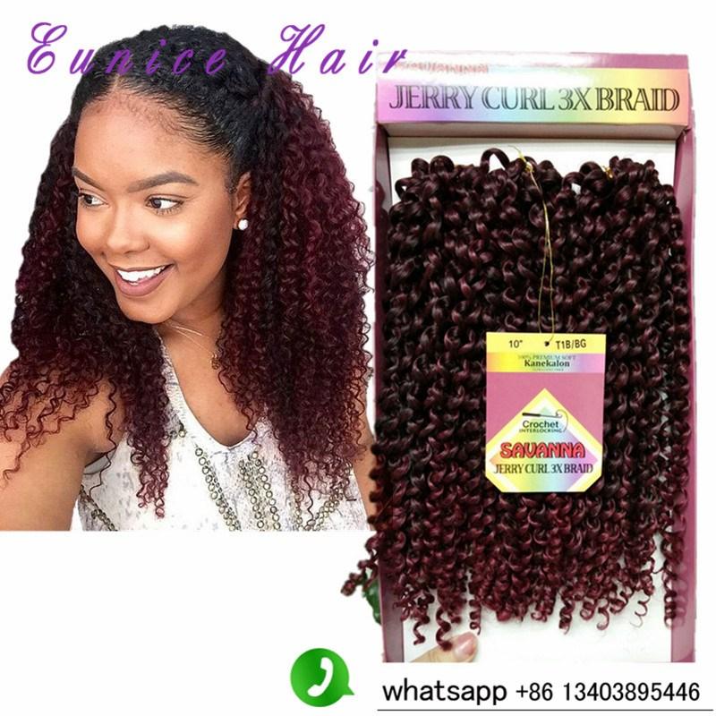 10inch Grey Synthetic Hair Savanna Jerry Curl 3x Braids