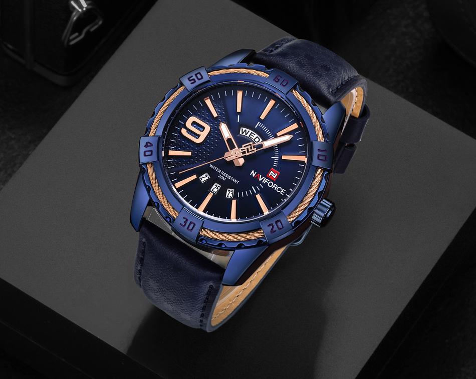HTB1cSpJe7fb uJjSsrbq6z6bVXad NAVIFORCE Top Luxury Brand Men Quartz Watch Army Military Sport Business Watches Week Analog Display Male Clock Waterproof Hour