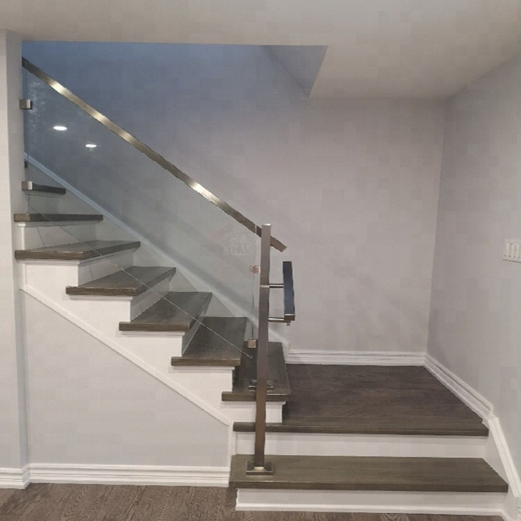 Stair Panels Glass Railing Cost Per Foot Cheap Price Buy   Handrail Cost Per Foot