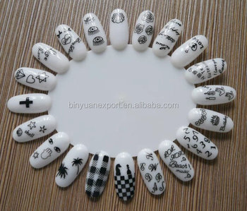 Bin Colored Nail Sticker Handmade Art 3d Water Decal