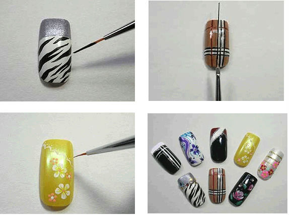 High Quality And Fashion Nail Art Tool Set 7 Pcs Striper Brush