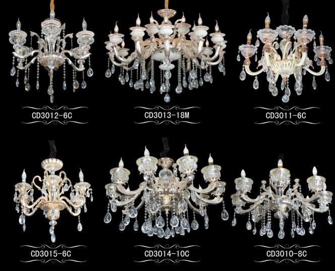 Antique Led Czech Crystal Chandelier Pendant
