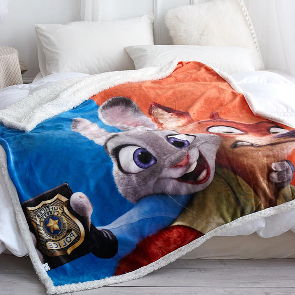 custom Colourful throw Fleece flannel printed winter travel blankets personalized photo kids