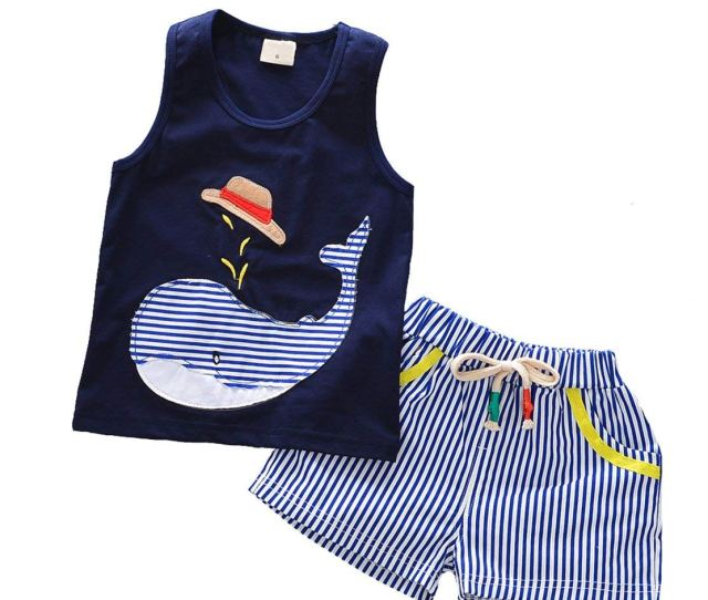 Get Quotations  C B Baby Clothes Boys Sleeveless Tops Shorts Striped Toddler Boy Clothing Set