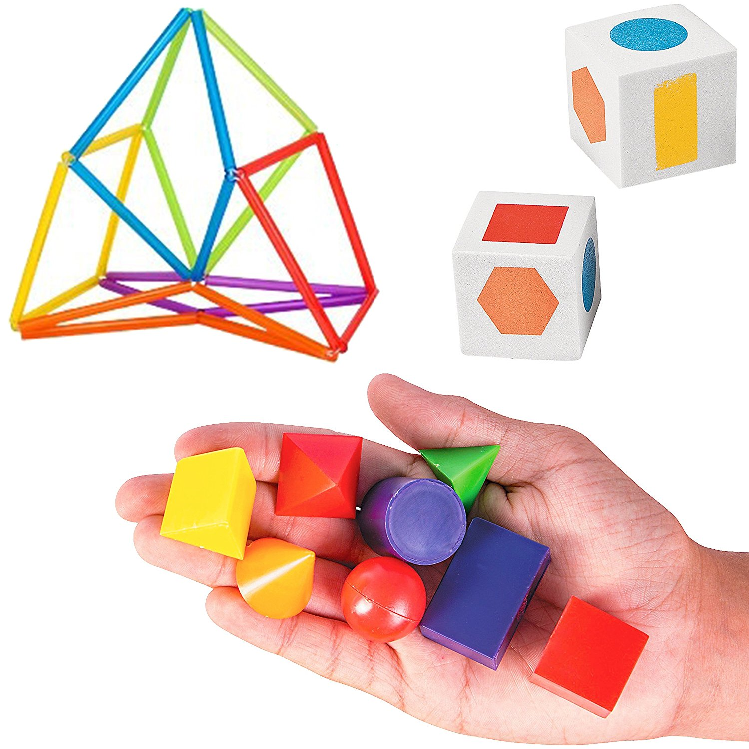Buy 8 Geometric Solid 3d Shapes For Mathematics