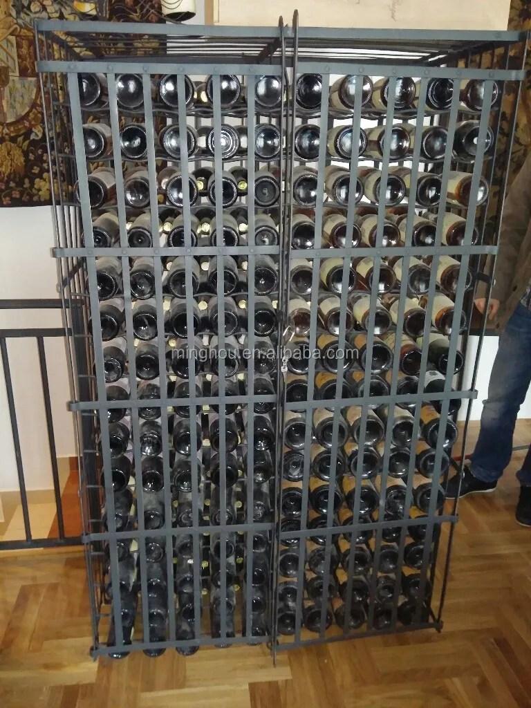 rayonnage a vin en metal double face grand presentoir pliable et en magasin pour 300 bouteilles 300 bouteilles voile de vin buy grands casiers a vin