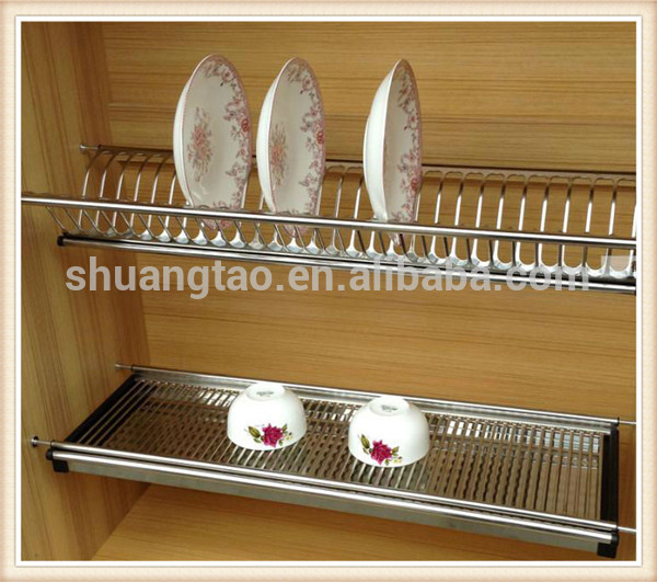Stainless Steel 201kitchen Dish Rack For Kitchen Cabinet Buy Two Tiers Stainless Steel Dish