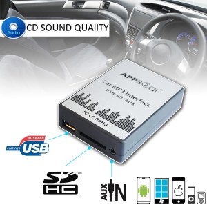Appps2car Usb Car Adapter With Usb Sd Aux For Renault 8p