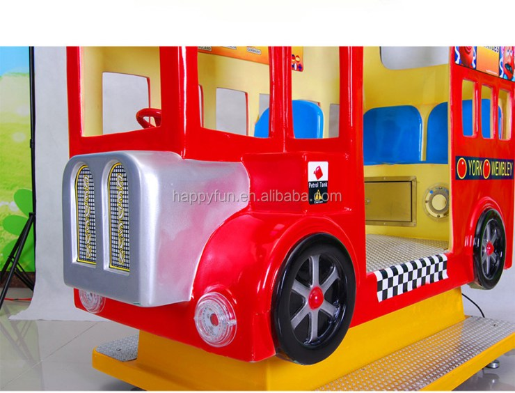 london bus kiddie ride fiberglass toys kiddie play game ride