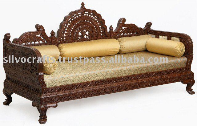 Royal Hand Carved Wooden Sofa Set For Hotel Industry Lobby Area Part 90