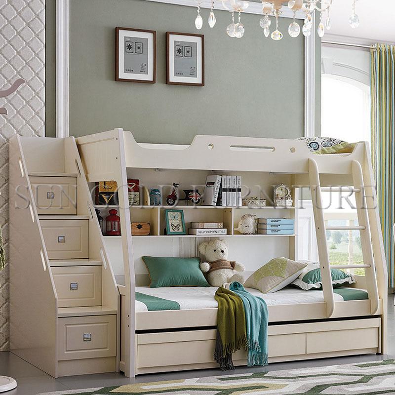 lits superposes en bois blanc moderne