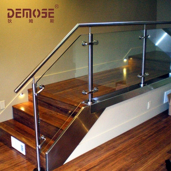 Stainless Steel Glass Stair Railings Prices Buy Glass Railings | Cost Of Glass Balustrade Stairs | Wood | Side Clamp | Steel Bracket | Spiral Staircase | Stainless Steel