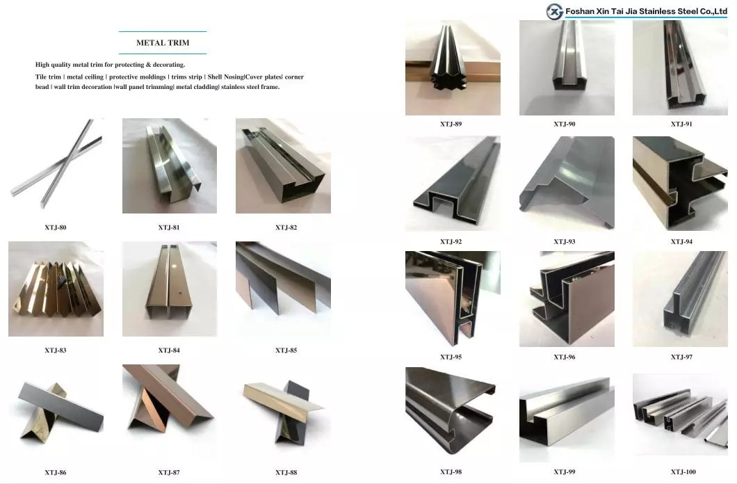 t shape stainless steel tile edge trim