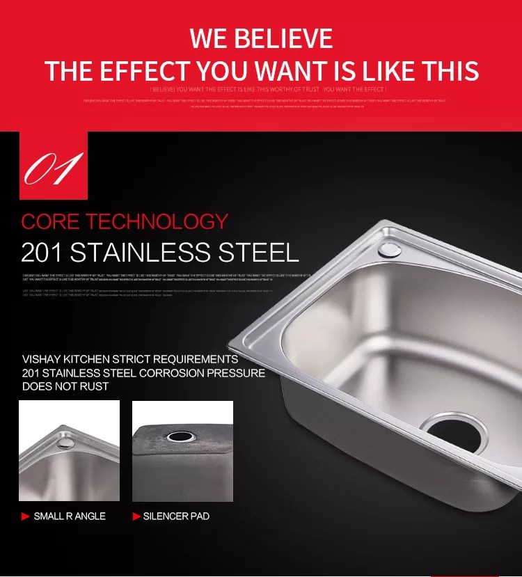 5641 standard size flexible durable single bowl 201stainless steel kitchen sink with drain board buy stainless steel kitchen sink with drain
